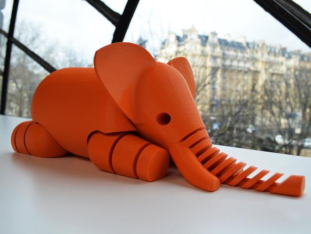 3D打印动物模型之大象
