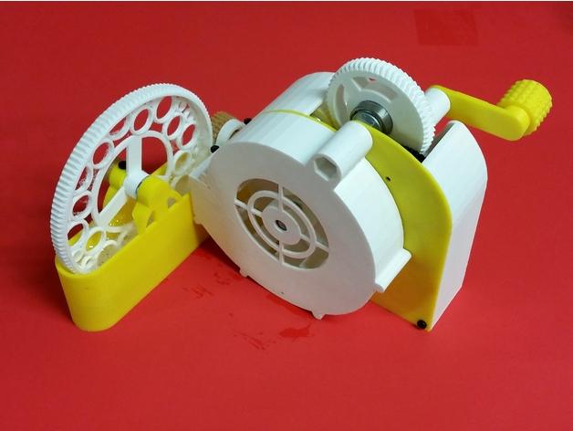 3D打印手摇泡泡机
