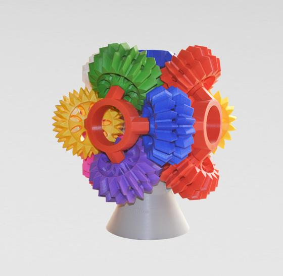 3D打印齿轮组合模型