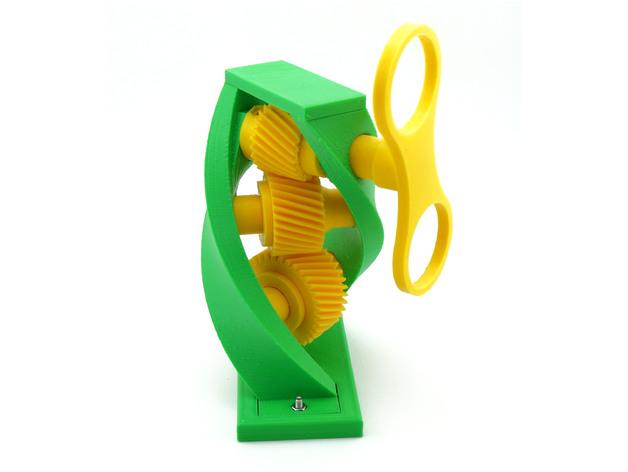 螺旋齿轮传动模型